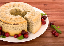 Poppy seed cake royalty free stock images