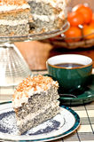 Poppy seed cake Royalty Free Stock Photography
