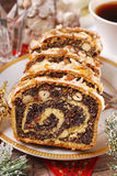 Poppy seed cake for christmas Royalty Free Stock Photos