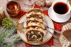 Poppy seed cake for christmas Royalty Free Stock Photo