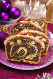 Poppy seed cake for christmas Stock Images