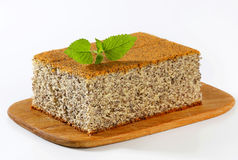 Poppy Seed Cake Stock Photo