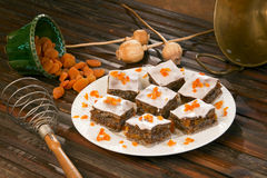 Poppy Seed Cake In The Offering Plate. Royalty Free Stock Photography