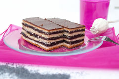 Poppy seed cake with jam. From Hungary Stock Photography