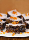 Poppy seed cake in the offering plate. Stock Images