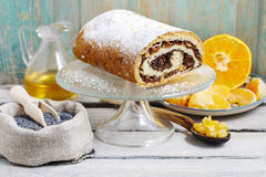 Poppy seed cake Stock Images