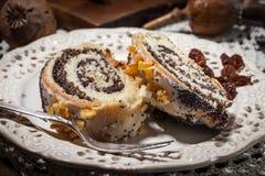 Poppy seed cake. Stock Photos