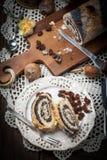 Poppy seed cake. Royalty Free Stock Photography