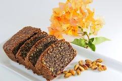 Poppy seed cake Royalty Free Stock Image