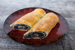 Poppy seed cake rolls Royalty Free Stock Image