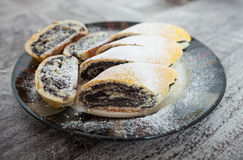 Poppy seed cake rolls Royalty Free Stock Photography