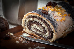 Poppy seed cake. Stock Images