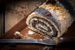 Poppy seed cake. Stock Image