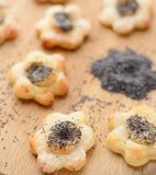 Poppy seed cookies Stock Photo