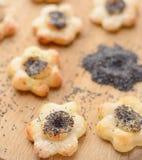 Poppy seed cookies Stock Photo