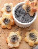 Poppy seed cookies Stock Image
