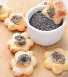 Poppy seed cookies Royalty Free Stock Image