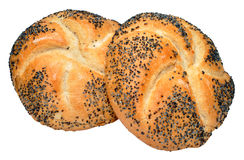 Poppy Seed Covered Bread Rolls Royalty Free Stock Images