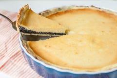 Poppy seed cream tart Royalty Free Stock Image