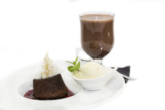 Poppy seed dessert with ice cream Stock Image
