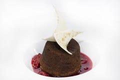 Poppy seed dessert with ice cream Royalty Free Stock Photo