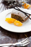 Poppy seed dessert with orange Royalty Free Stock Photos
