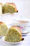Poppy seed orange ring cake Stock Image