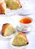 Poppy seed orange ring cake Royalty Free Stock Photography