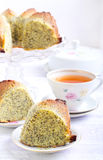Poppy seed orange ring cake Stock Images