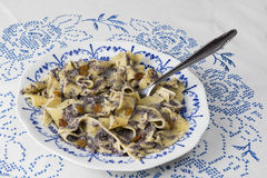 Poppy seed pasta  traditional hungarian meal Royalty Free Stock Images