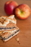 Poppy Seed Pie with Apples Stock Photo