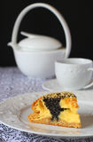 Poppy seed quark cake Stock Photo