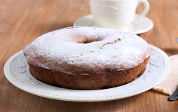 Poppy seed and raisin ring cake Stock Photography