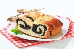 Poppy seed roll Stock Photos