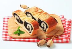 Poppy seed roll Royalty Free Stock Photos