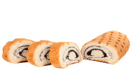 Poppy seed roll isolated Stock Photo