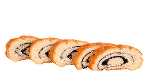 Poppy seed roll isolated Stock Photos