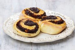 Poppy seed rolls Stock Photo