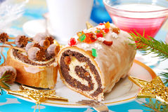 Poppy seed roulade for christmas Royalty Free Stock Photography