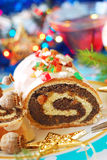 Poppy seed roulade for christmas Stock Photography