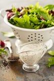 Poppy seed salad dressing Stock Photo