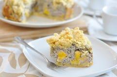Poppy Seed Streusel Cake Stock Photos