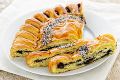 Poppy seed strudel Royalty Free Stock Photo