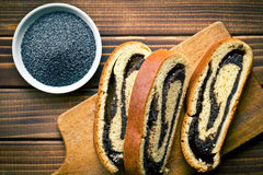 Poppy seed strudel Stock Image
