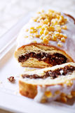 Poppy seed strudel for Christmas; close up Stock Images