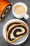 Poppy seed strudel Stock Images
