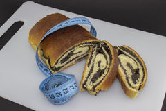 Poppy seed strudel, gain weight Stock Photography