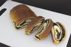 Poppy seed strudel Royalty Free Stock Images