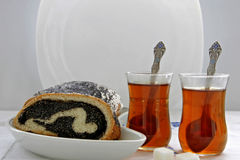 Poppy seed strudel Royalty Free Stock Photos
