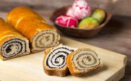 Poppy seed and walnut cakes Stock Photos